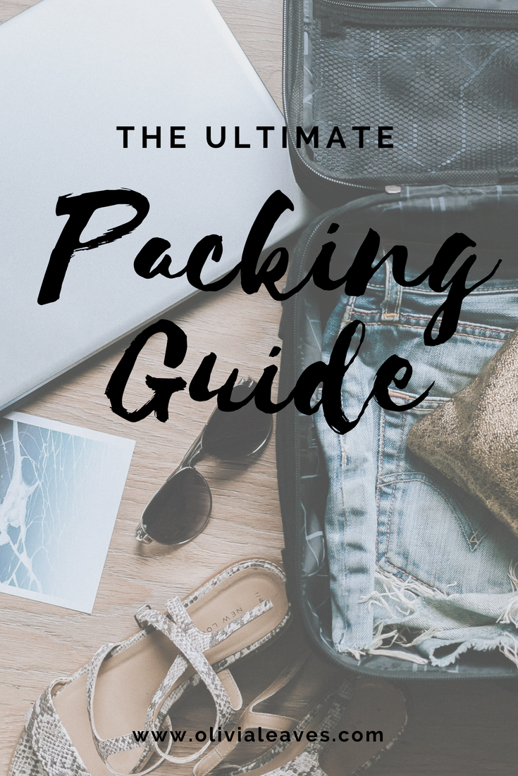 Olivia Leaves | The Ultimate Packing Guide