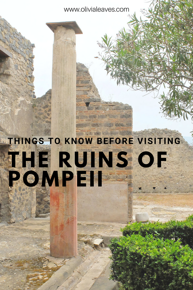 Olivia Leaves | Things To Know Before Visiting the Ruins of Pompeii